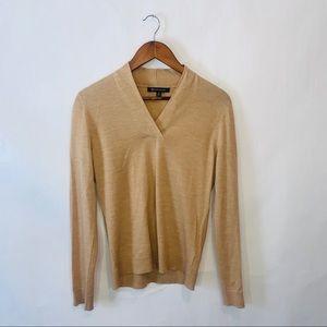 Brooks brothers woman's wool tan sweater top